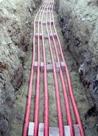 прокладка силовых кабелей. Томские электрики.